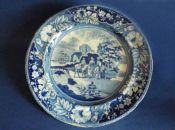 Early Staffordshire 'Family and Mule' Dinner Plate c1820